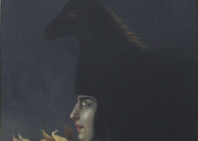 Lucia Maya, El Caballo de Helena,1992, Oil on canvas 24 x 20 in.